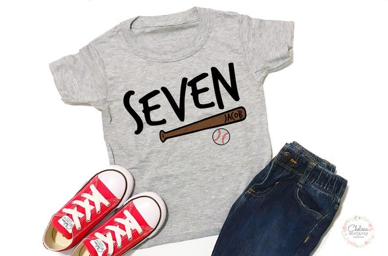 Personalized 7th Birthday Shirt 7 Boy