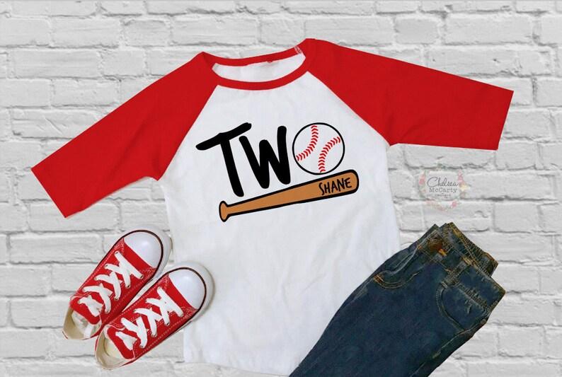 Personalized 2nd Birthday Shirt Baseball