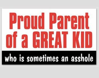 Proud Parent Funny Bumper Sticker