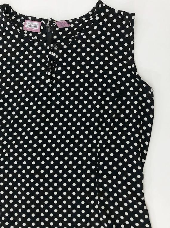 VTG 90s Keyhole Polka Dot Maxi Dress Sleeveless B… - image 3