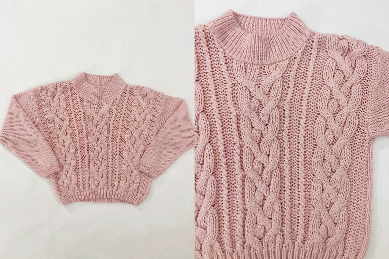80s Sweatshirts, Sweaters, Vests | Women Vtg 80S Pink Mock Neck Cable Knit Chunky Sweater 1980S Vintage Honors Misses Medium M $45.00 AT vintagedancer.com