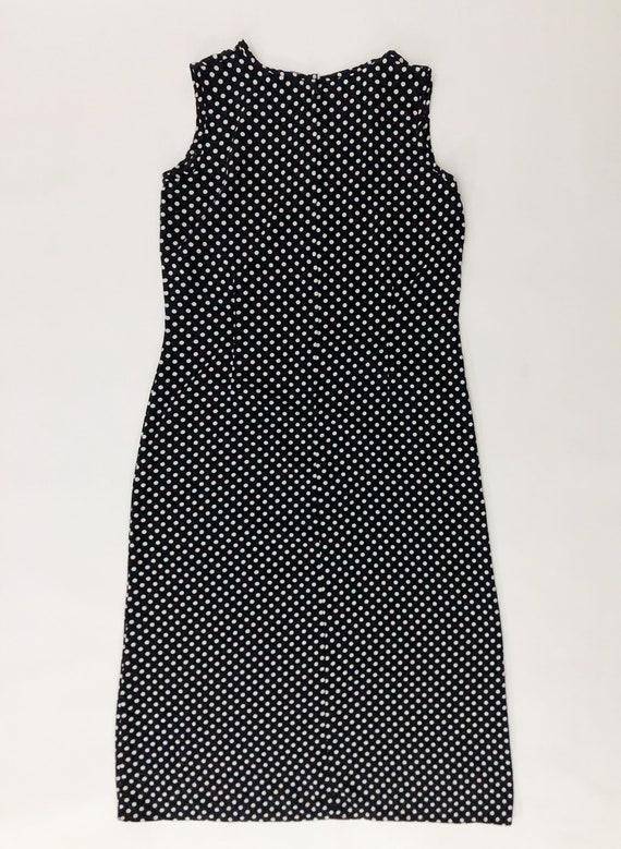 VTG 90s Keyhole Polka Dot Maxi Dress Sleeveless B… - image 4