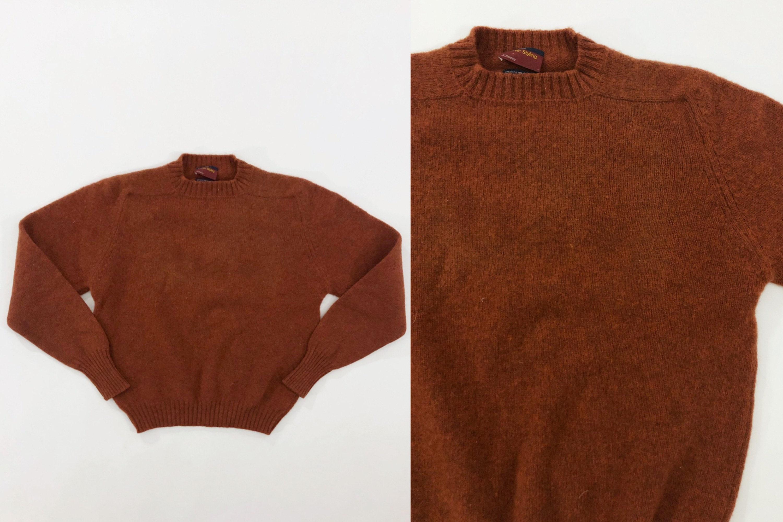 80s Sweatshirts, Sweaters, Vests | Women Vtg 80S Jcpenney Mens Shop Brown Shetland Wool Pullover Sweater 1980S Vintage Medium M $42.00 AT vintagedancer.com