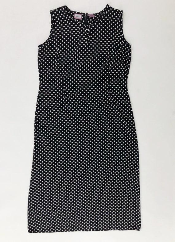 VTG 90s Keyhole Polka Dot Maxi Dress Sleeveless B… - image 2