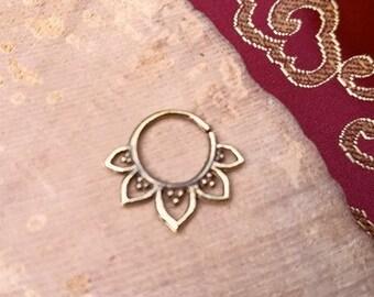 1 mm piercing gold septum / 1 mm septum piercing gold brass