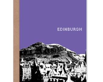 Purple greeting card etsy arthurs seat edinburgh scottish landmark purple greetings card cpwbc0519 m4hsunfo