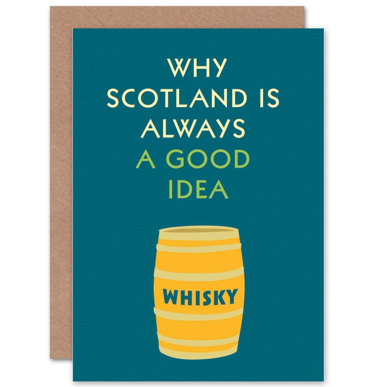 Schottland Karte Whisky.Whisky Karte Lustige Schottland Immer Gute Idee Kunst Leer Gruß Karte Cp1665