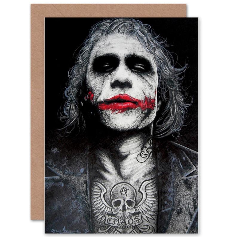 Halloween Joker Card.Joker Card Batman Tattoo Inked Icons Art By Wayne Maguire Blank Card Cp2921