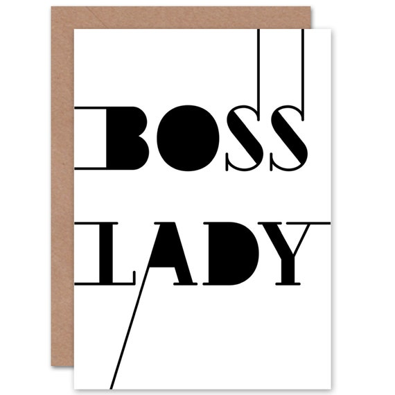Boss Lady Birthday Card For Her Card Boss Birthday Wife Etsy