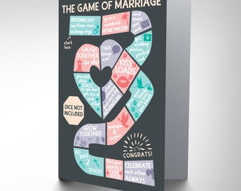 Wedding Card - Game Of Marriage Celebration Game Of Marriage Fun Blank Card CP3053