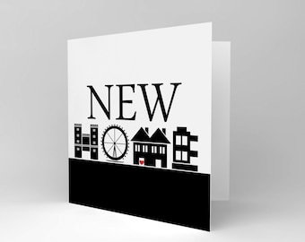 Greetings Card Birthday Gift New Home Silhouettes CS1868