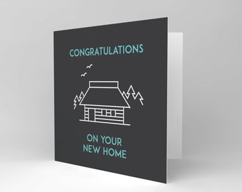 Card Greeting New Home Congratulations Outline CS1602