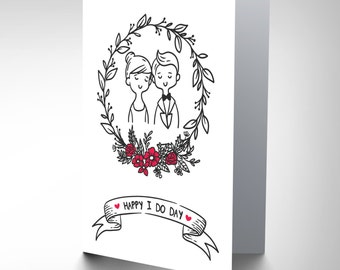 Card Wedding Celebration Happy I Do Day Fun Gift CP3054