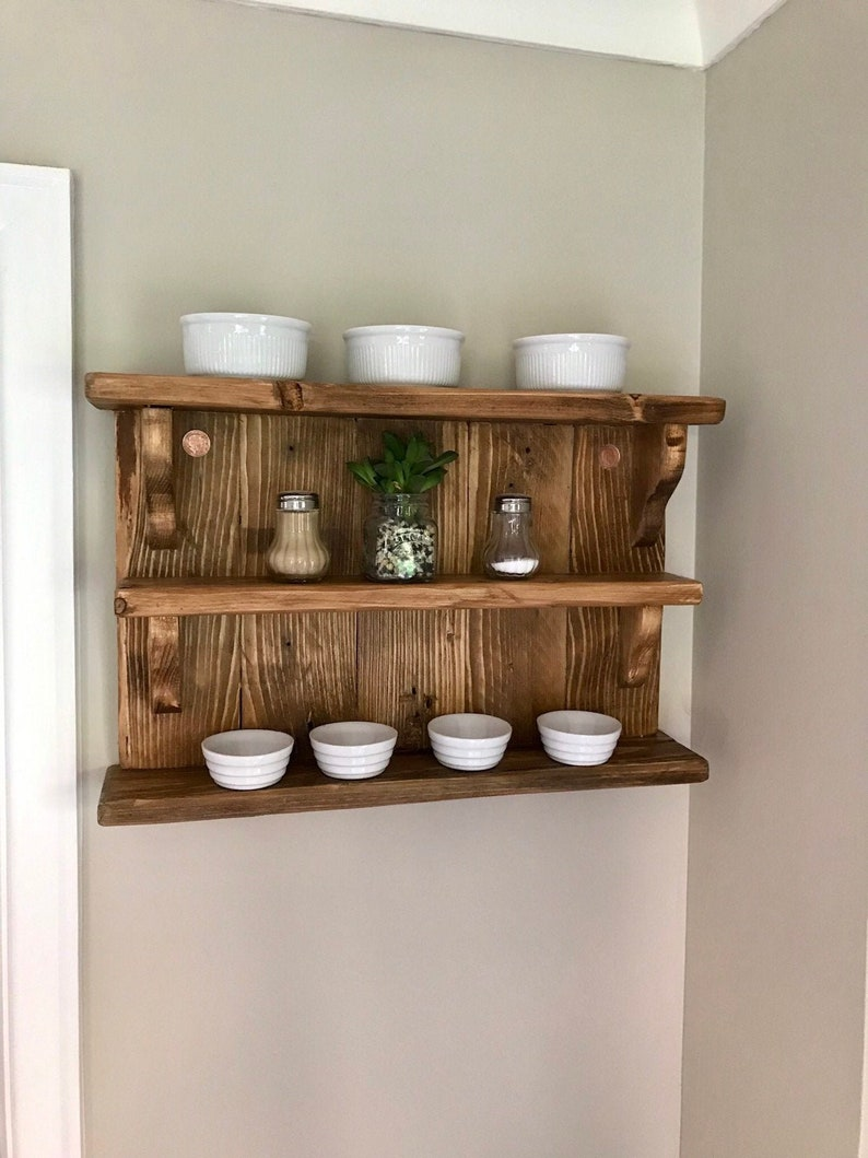 competitive price 9c185 eb2ea Shelving, Triple Shelves, Timber Shelf Unit, Beautiful Old Salvaged Timber,  Treated Timber, Spice Shelf, Knick Knack Shelves, Display Shelf