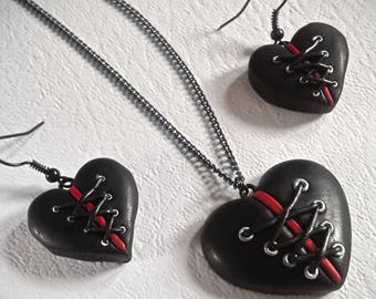 Corseted Hearts | Elegant Gothic Lolita Fashion | Keyrings, Necklaces and Earrings.