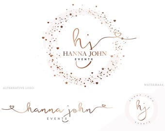 Wedding logo design Etsy
