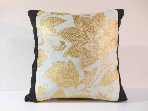 Coussin Obi Kimono en soie japonais | 399 | coussin décoratif | 16 x 16 |, accent oreillers, jeter des oreillers, coussins de canapé, coussins de canapé, coussins créateurs