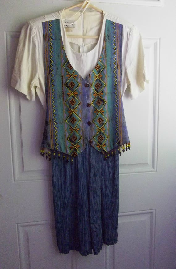 Boho Style Skort Dress, Size 6, K Studio, Vintage