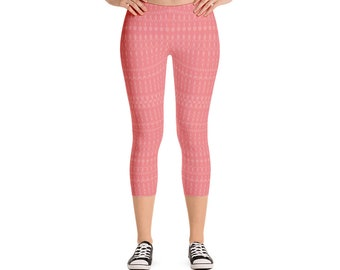 bb130e14ca35b Girls Pink Peach Leggings Short Length Leggings Trendy Fashion Gym Wear  Summer Fashion Womens Capri Leggings All Sizes Trendy Fashion Online