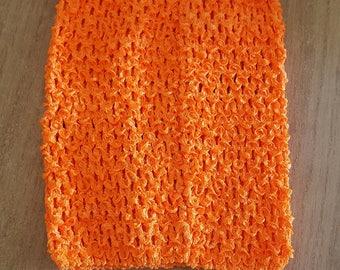 STRAPLESS stretch neon Orange crochet for creating dress 0-16 month TUTU