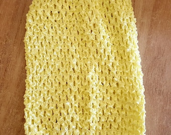 STRAPLESS stretch clear/yellow pale yellow crochet for creating dress 0-16 month TUTU