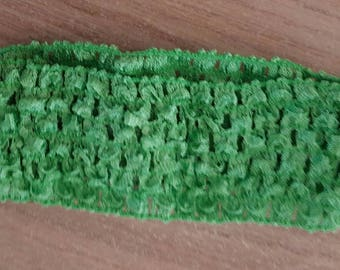 Headband light green soft and fine crochet for baby and girls up to 6 years, tutus, dresses, hair accessory