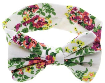 White flowers for girls and baby hair band