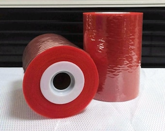 Promo 12 instead of 15 euros. Roll of tulle red Scarlett 15 cm x 82 m for tutu and decoration design