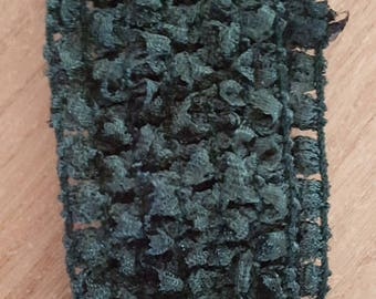 Headband khaki soft and fine crochet for baby and girls up to 6 years, tutus, dresses, hair accessory
