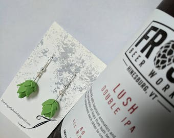 Hops Earrings - for your Beer Enthusiast friends
