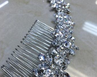 Bridal rhinestone headband/ wedding headpiece/bridal tiara/ rhinestone headband/ bridal hair vine/bridal barrette/bridal fascinator