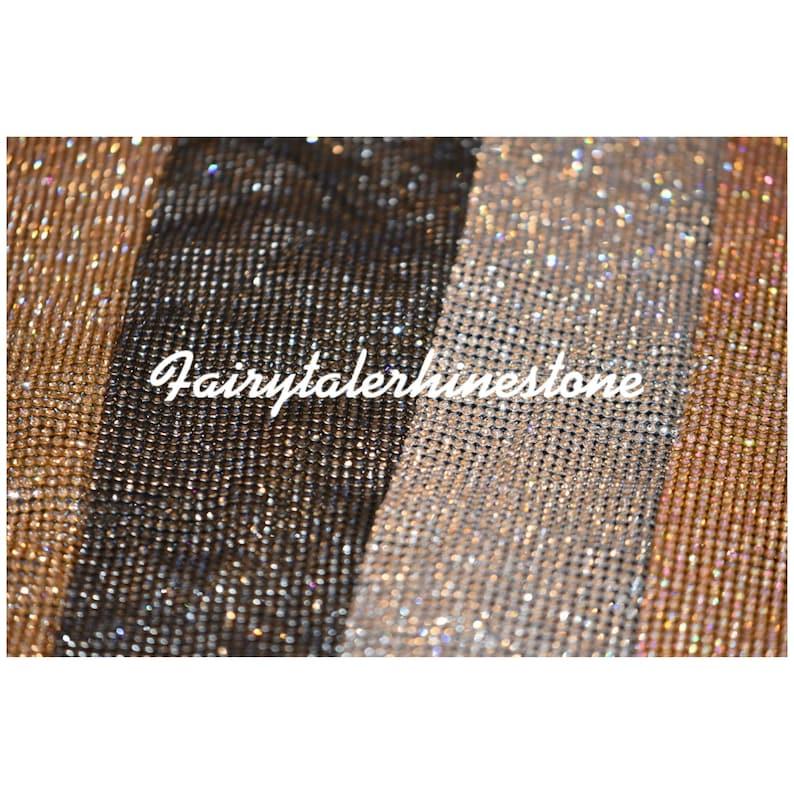 Rhinestone sheets / rhinestone fabric  perfect for dress image 0