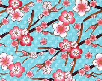 """Cherry blossoms Small floral 100/% cotton 42/"""" Fabric by the yard 36/"""""""