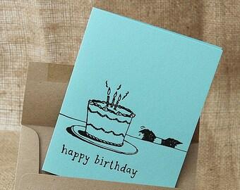 Dog Letterpress Card, Dog Birthday Card, Letterpress Card, Birthday Card, Dog Lover, Dog, Handmade Card, Card from Dog