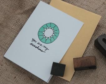You are my Sunshine Card, You are my Sunshine, All Occasion Card, Birthday Card, Anniversary Card, Celebration Card,