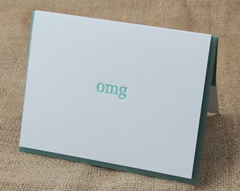 omg Card, Funny Card, Letterpress Card, Congratulations Card