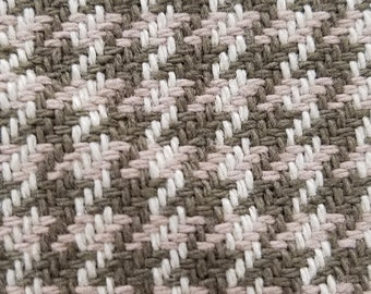 Brown and Beige Houndstooth fabric - 10 yds
