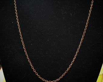 UPGRADE ADD-ON 18in Antique Copper Chain Necklace!