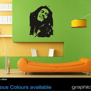 Bob Marley wall art sticker quote lyrics excuse me while I light my spliff