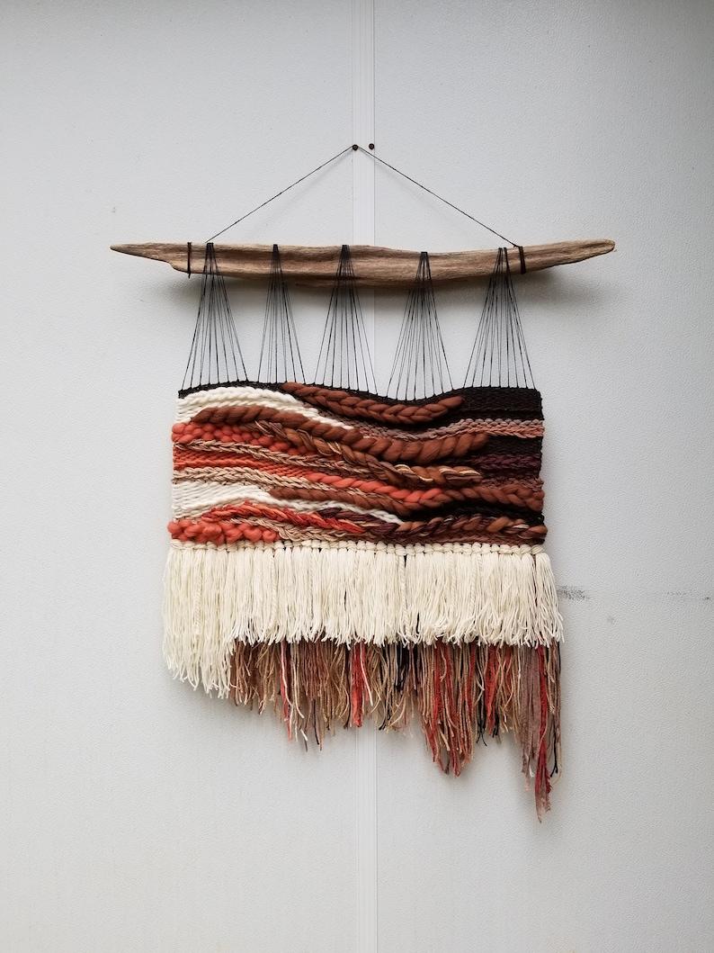 XL Woven Wall Hanging Terracotta Home Decor Wall Weaving