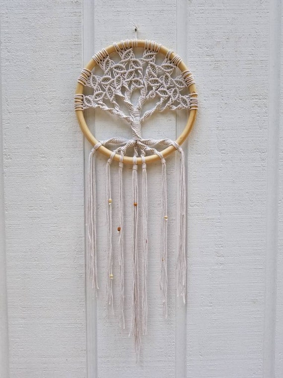 Tree Of Life Large Macrame Wall Hanging Circle Art Etsy