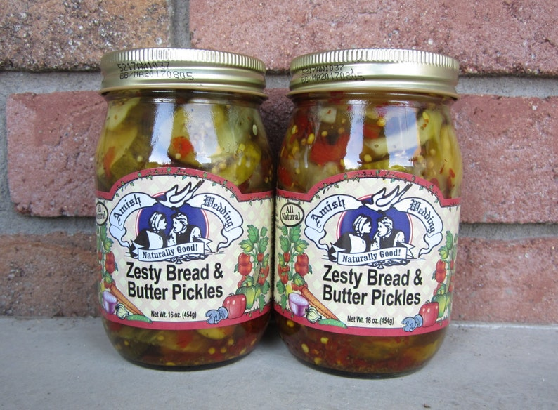 Amish Wedding Foods.Amish Wedding Foods Zesty Bread N Butter Pickles Two 16oz Jars