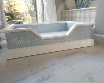 wooden dog bed etsy. Black Bedroom Furniture Sets. Home Design Ideas