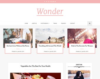 Blogger Responsive Template, Blogger Simple and Clean template, Perfect for all kinds of blogs