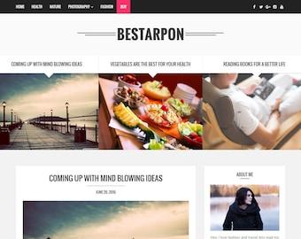 SALE! Blogger Responsive Template - Bestarpon