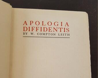 Apologia Diffidentis by W. Compton Leith