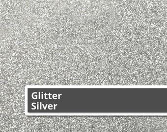 """Silver Siser Glitter HTV, Silver Glitter HTV, Heat Transfer Vinyl, 12"""" x 20"""" Sheet, T-Shirt Vinyl, Iron-on Vinyl, Siser Glitter HTV, T-shirt"""