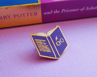 Book Enamel Lapel Pin | cute hat pin badge