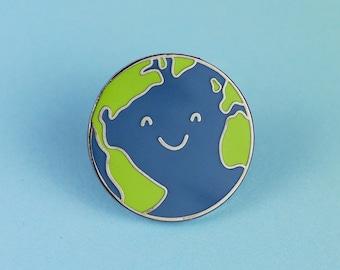 Happy Earth Enamel Pin
