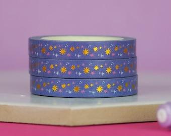 Lilac Stars Washi Tape